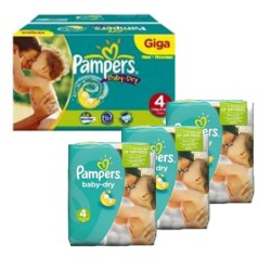 Pampers - Giga pack 210 Couches Baby Dry taille 4 sur Couches Poupon