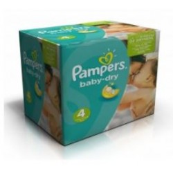Pampers - Maxi giga pack 300 Couches Baby Dry taille 4 sur Couches Poupon