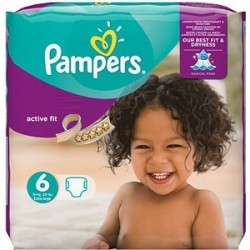 Pampers - Mega pack 120 Couches Active Fit taille 6 sur Couches Poupon
