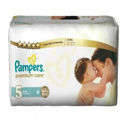Pampers - Pack 20 Couches Premium Care taille 5 sur Couches Poupon