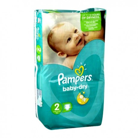 72 Couches Pampers Baby Dry Taille 2 En Promotion Sur Couches Poupon