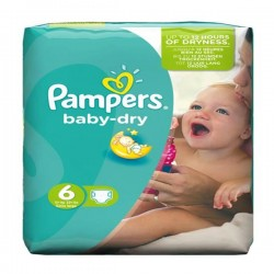 31 Couches Pampers Baby Dry taille 6