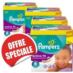 Pampers - Giga pack 240 Couches Active Fit taille 6 sur Couches Poupon