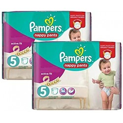 Pampers - Pack 68 Couches Active Fit Pants taille 5 sur Couches Poupon