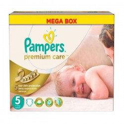 Pampers - Pack 60 Couches Premium Care taille 5 sur Couches Poupon