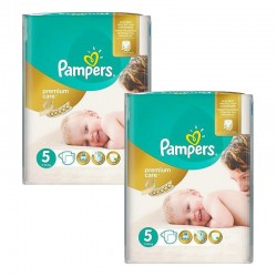 Pampers - Mega pack 100 Couches Premium Care taille 5 sur Couches Poupon