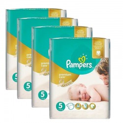 Pampers - Giga pack 260 Couches Premium Care taille 5 sur Couches Poupon
