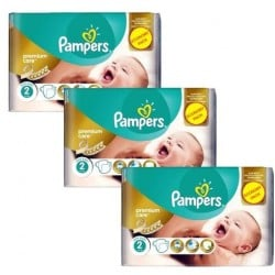 Pampers - Mega pack 132 Couches New Baby Premium Care taille 2 sur Couches Poupon