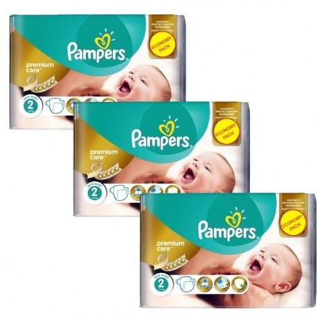 Pampers - Mega pack 176 Couches New Baby Premium Care taille 2 sur Couches Poupon