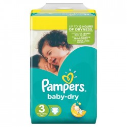 Baby Dry - 34 Couches Pampers taille 3
