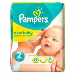 Pampers - Pack 76 Couches New Baby Dry taille 2 sur Couches Poupon