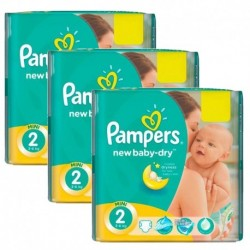Pampers - Pack jumeaux 532 Couches New Baby Dry taille 2 sur Couches Poupon