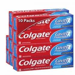 Cavity Protection - 10 Dentifrices Colgate sur Couches Poupon