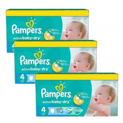 Pampers - Mega pack 140 Couches Active Baby Dry taille 4 sur Couches Poupon