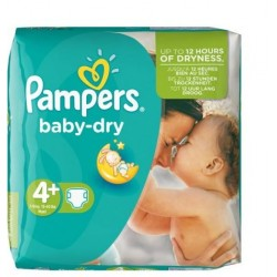 Pampers - Pack 31 Couches Baby Dry taille 4+