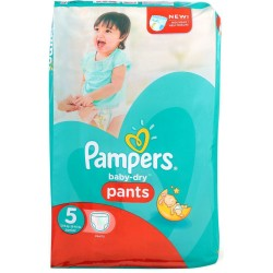 Pampers - Pack 15 Couches Baby Dry Pants taille 5 sur Couches Poupon