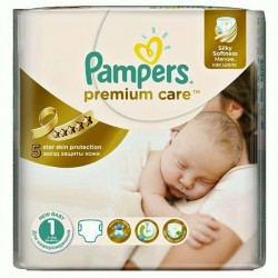 Premium Care - 33 Couches Pampers taille 1 sur Couches Poupon