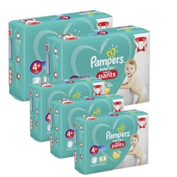 Pampers - Pack jumeaux 525 Couches Baby Dry Pants taille 4+ sur Couches Poupon