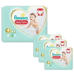 Pampers - Giga pack 209 Couches Premium Protection Pants taille 4 sur Couches Poupon