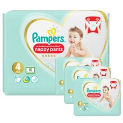 Pampers - Maxi mega pack 494 Couches Premium Protection Pants taille 4 sur Couches Poupon