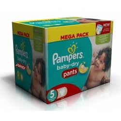 Pampers - Giga pack 270 Couches Baby Dry Pants taille 5 sur Couches Poupon
