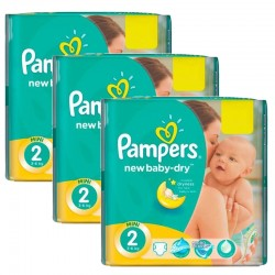 Pampers - Pack jumeaux 560 Couches New Baby Dry taille 2 sur Couches Poupon