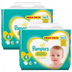 Pampers - Giga pack 288 Couches New Baby Premium Protection taille 4 sur Couches Poupon