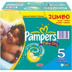 Pampers - Giga pack 207 Couches Baby Dry taille 5 sur Couches Poupon