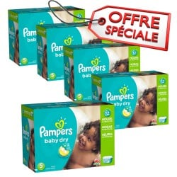 Pampers - Giga pack 230 Couches Baby Dry taille 5