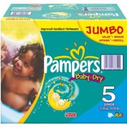 Pampers - Giga pack 253 Couches Baby Dry taille 5 sur Couches Poupon