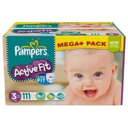 Active Fit - 111 Couches Pampers taille 3 sur Couches Poupon