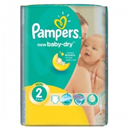 New Baby Dry - 52 Couches Pampers taille 2 sur Couches Poupon