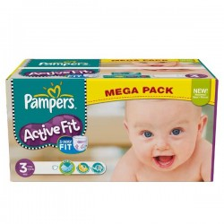 Active Fit - 372 Couches de Pampers taille 3