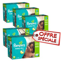 Pampers - Maxi giga pack 322 Couches Baby Dry taille 5 sur Couches Poupon