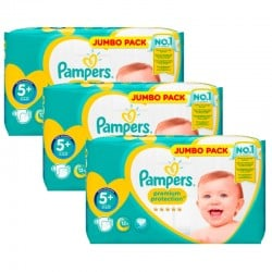 Pampers - Pack 80 Couches New Baby Premium Protection taille 5+ sur Couches Poupon