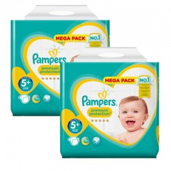 Pampers - Mega pack 180 Couches New Baby Premium Protection taille 5+ sur Couches Poupon