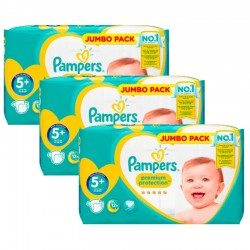 Pampers - Giga pack 220 Couches New Baby Premium Protection taille 5+ sur Couches Poupon