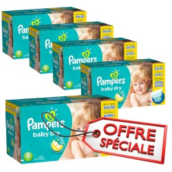 Pampers - Mega pack 152 Couches Baby Dry taille 6 sur Couches Poupon