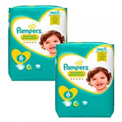 Pampers - Mega pack 186 Couches New Baby Premium Protection taille 6 sur Couches Poupon