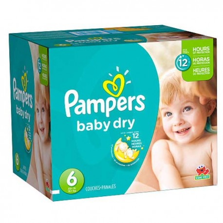 Baby Dry - 33 Couches de Pampers taille 6 sur Couches Poupon