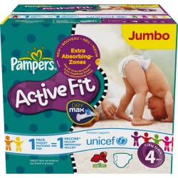 Active Fit - 336 Couches Pampers taille 4