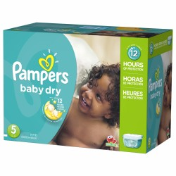 Pampers - 132 Couches Baby Dry taille 5 sur Couches Poupon