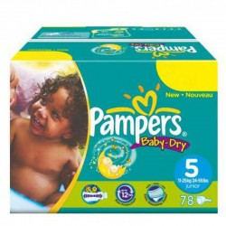 Pampers - 176 Couches Baby Dry taille 5 sur Couches Poupon