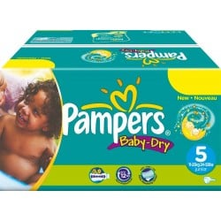 Pampers - Maxi mega pack 484 Couches Baby Dry taille 5