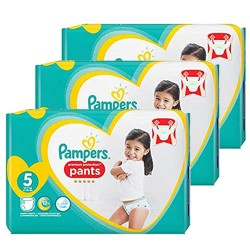 Pampers - Giga pack 204 Couches Premium Protection Pants taille 5 sur Couches Poupon