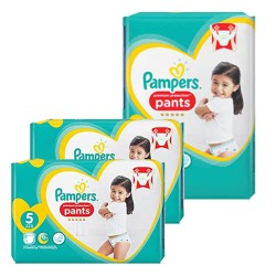 Pampers - Giga pack 272 Couches Premium Protection Pants taille 5 sur Couches Poupon