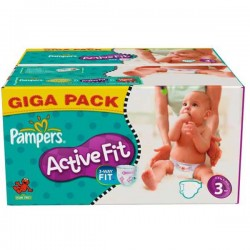 Pampers - 136 Couches Active Fit taille 3