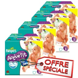 Pampers - Giga pack 272 Couches Active Fit taille 3