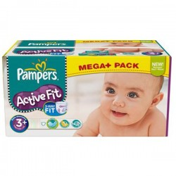 Active Fit - 280 Couches Pampers taille 3+
