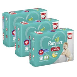 Pampers - Maxi mega pack 490 Couches Baby Dry Pants taille 4+ sur Couches Poupon